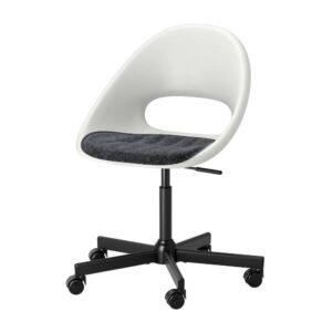 ЛОБЕРГЕТ / МАЛЬСКЭР Рабочее кресло c подушкой, белый черный/темно-серый - 893.319.40