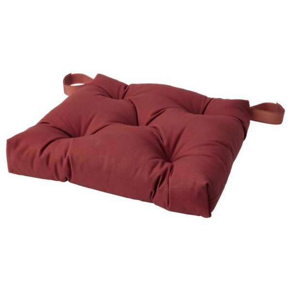 МАЛИНДА Подушка на стул, темный коричнево-красный 40x38x7.0 см - 104.791.90