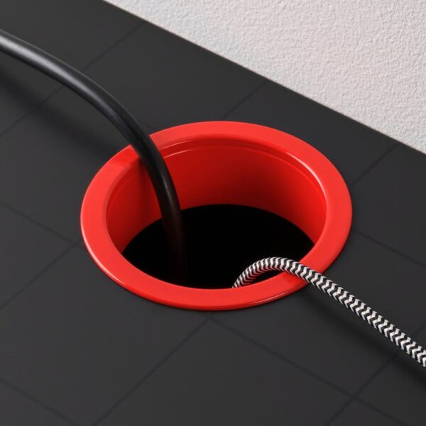 МИККЕ Письменный стол, антрацит/красный 105x50 см - 404.898.52