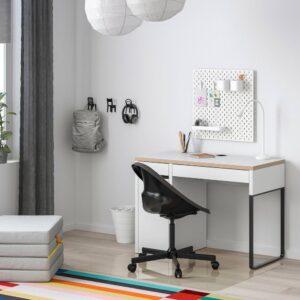МИККЕ Письменный стол, белый/антрацит 105x50 см - 704.898.41