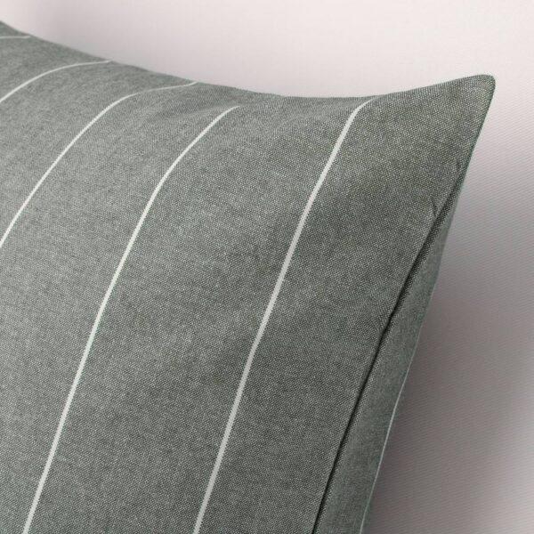 МИЛДРУН Чехол на подушку, серый/в полоску 50x50 см - 704.747.26