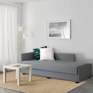 НЭРСНЕС Кровать-кушетка, лерхага светло-серый 80x200 см - 504.756.80