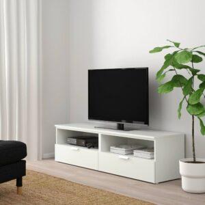 ПЛАТСА Тумба д/ТВ с ящиками, белый/Фоннес белый 160x44x44 см - 793.978.61