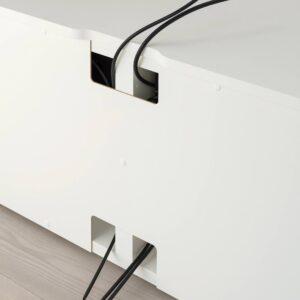 ПЛАТСА Тумба под ТВ, белый/металлический 160x42x54 см - 993.052.62