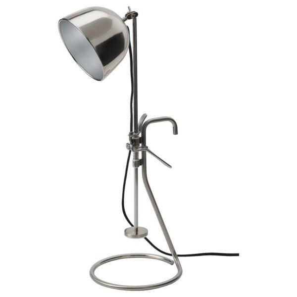 РОВАРОР Настольная лампа с зажимом, нержавеющ сталь - 304.545.46