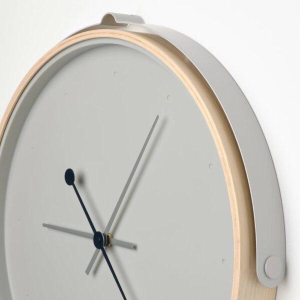 РОТБЛОТА Настенные часы, ясеневый шпон/светло-серый 42 см - 904.243.25