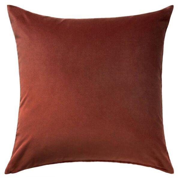 САНЕЛА Чехол на подушку, красный/коричневый 65x65 см - 004.792.04