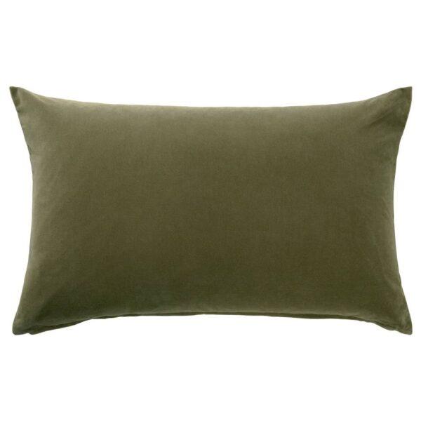 САНЕЛА Чехол на подушку, оливково-зеленый 40x65 см - 504.791.93