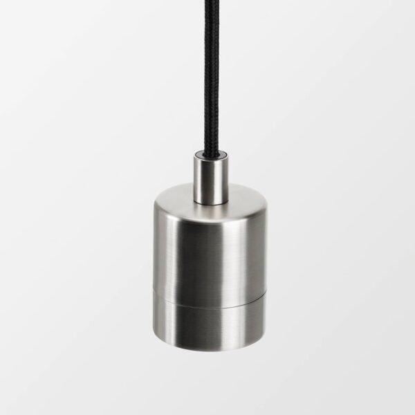СКАФТЕТ / РОЛЛЬСБУ Подвесной светильник с лампочкой, никелированный 125 см - 393.922.62