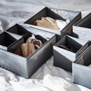 СКУББ Набор коробок, 6 шт., темно-серый - 604.729.59