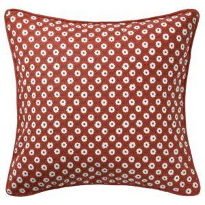 СНЁБРЭККА Чехол на подушку, красный белый/цветочный орнамент 50x50 см - 304.747.09