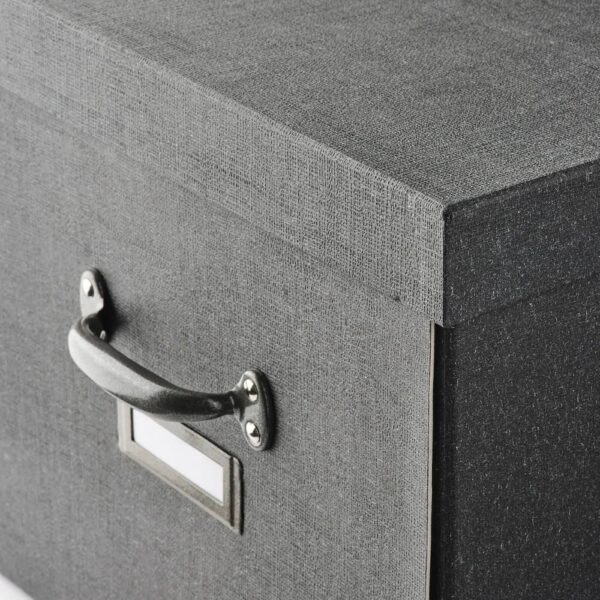 ЧУГ Коробка с крышкой, темно-серый 35x56x30 см - 404.776.70