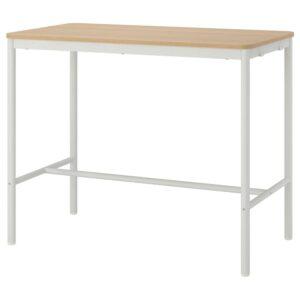 ТОММАРЮД Стол, дубовый шпон, беленый/белый 130x70x105 см - 293.874.97