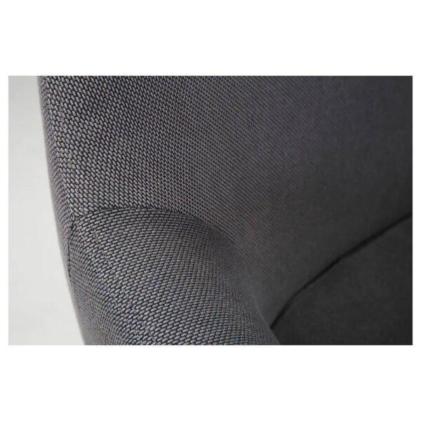 ТОССБЕРГ Стул, металлический черный/серый - 704.336.51