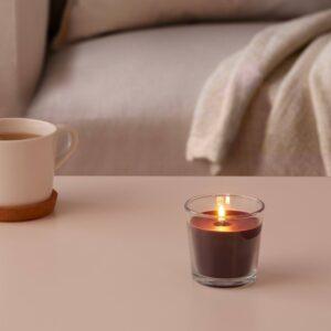 СИНЛИГ Ароматическая свеча в стакане, Перец/черный 7.5 см - 304.938.78