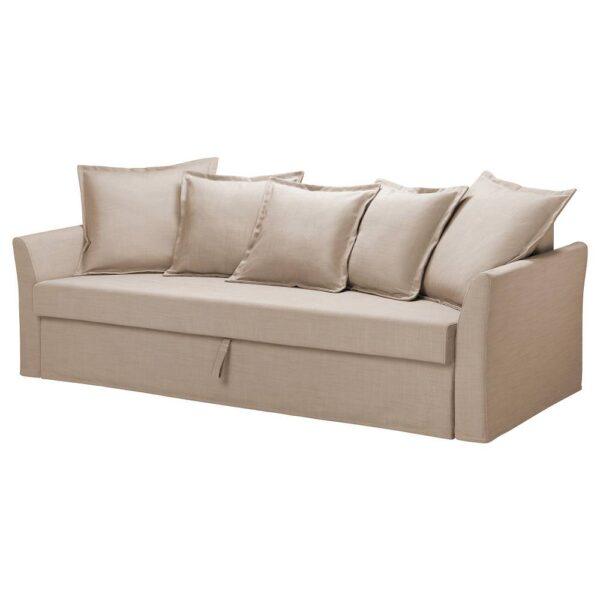 ХОЛЬМСУНД 3-местный диван-кровать, Нордвалла темно-бежевый - 504.893.71