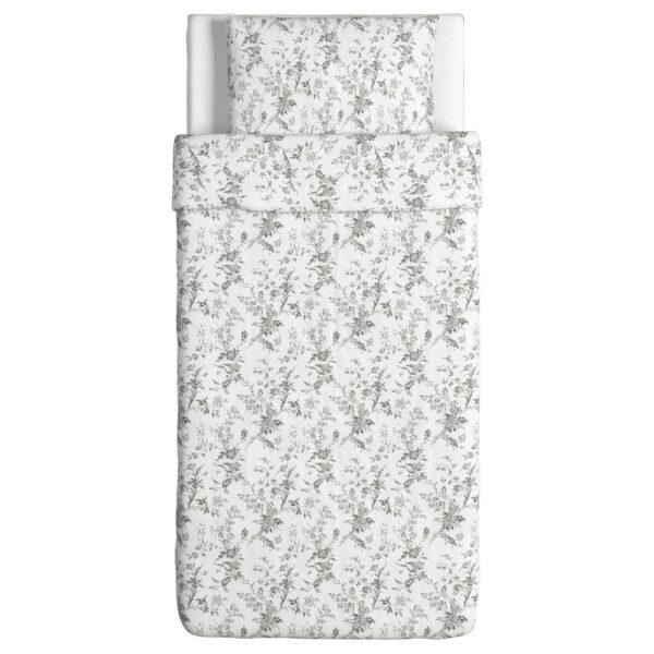 АЛЬВИНЕ КВИСТ Пододеяльник и 1 наволочка, белый/серый 150x200/50x70 см - 902.127.76