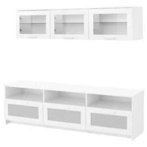 БРИМНЭС Шкаф для ТВ, комбинация, белый 180x41x190 см - 093.968.41