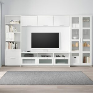 БРИМНЭС Шкаф для ТВ, комбинация, белый 320x41x190 см - 693.967.15