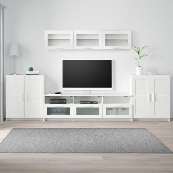 БРИМНЭС Шкаф для ТВ, комбинация, белый 336x41x190 см - 993.977.99