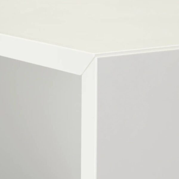 ЭКЕТ Комбинация шкафов с ножками, белый/дерево 35x35x80 см - 393.860.77