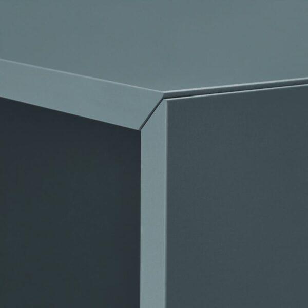 ЭКЕТ Комбинация шкафов с ножками, белый серо-бирюзовый/дерево 35x35x80 см - 493.860.86