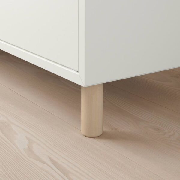 ЭКЕТ Комбинация шкафов с ножками, белый светло-серый/дерево 35x35x80 см - 193.860.83