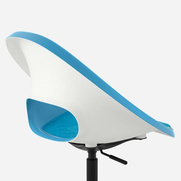 ЭЛДБЕРГЕТ / МАЛЬСКЭР Рабочее кресло c подушкой, синий/черный - 593.318.85