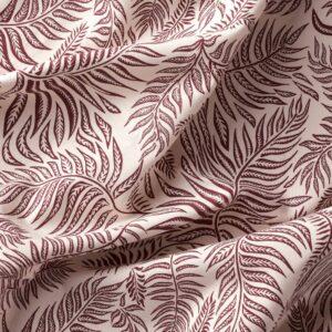 ХАКВИНГЕ Ткань, неокрашенный темно-красный/орнамент «листья» 150 см - 404.765.81