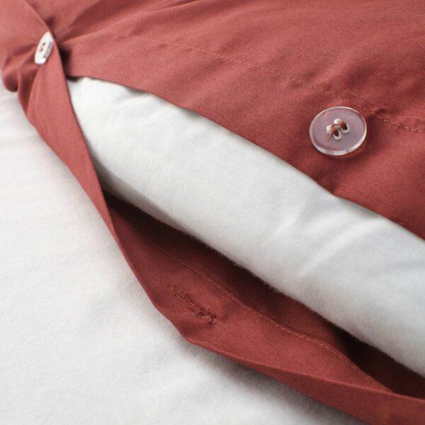 ЛЮКТЭСМИН Пододеяльник и 1 наволочка, красно-коричневый 150x200/50x70 см - 804.802.32