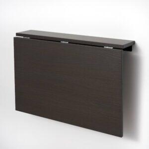 НОРБЕРГ Стол откидной стенного крепежа, черно-коричневый 74x60 см - 904.946.86