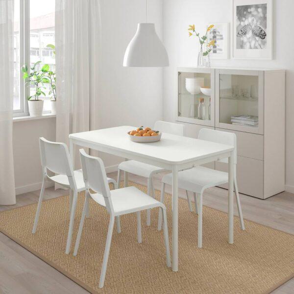 ТОММАРЮД Стол, белый 130x70 см - 593.874.91