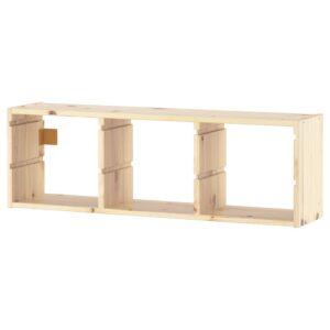 ТРУФАСТ Настенный модуль для хранения, светлая беленая сосна 93x30 см - 201.148.83