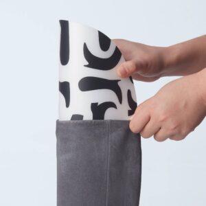 СКОНКОР Формодержатель для обуви, 1 пара, белый/черный - 004.972.98