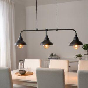 АГУННАРИД Подвесной светильник с 3 лампами, черный - 503.647.76