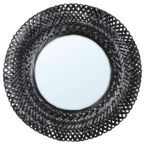 РИСБЮГД Зеркало, бамбук/черный 50 см - 804.704.45