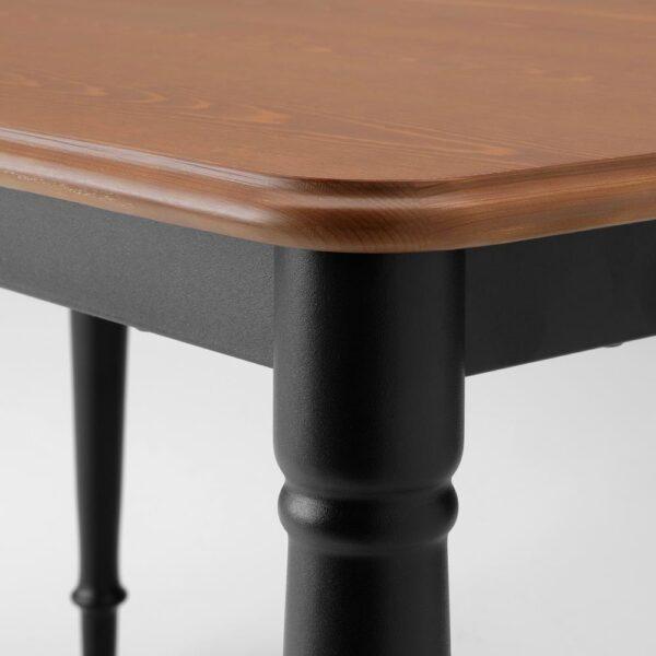 ДАНДЭРЮД Стол обеденный, черный 130x80 см - 004.431.49