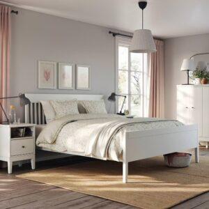 ИДАНЭС Каркас кровати, белый/Лонсет 180x200 см - 894.065.20