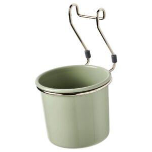 ГУЛЬТАРП Контейнер, зеленый/никелированный 14x16 см - 504.444.53
