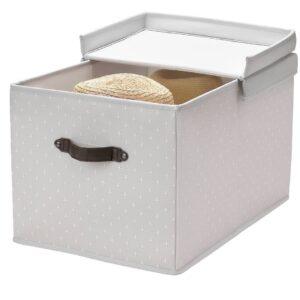БЛЭДДРАРЕ Коробка с крышкой, серый/с рисунком 35x50x30 см - 504.744.02