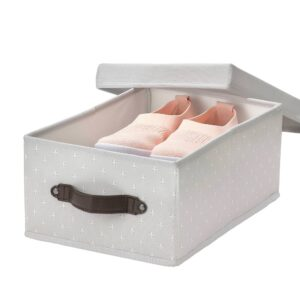 БЛЭДДРАРЕ Коробка с крышкой, серый/с рисунком 25x35x15 см - 404.743.94