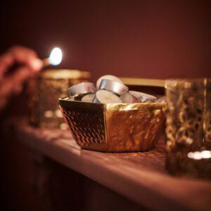 ЛЬЮВАРЕ Свеча греющая ароматическая, Агаровое дерево/светло-бежевый - 504.921.18