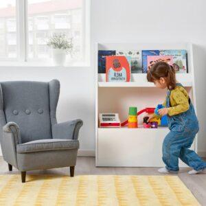 БЕРГИГ Подставка-витрина для книг, белый - 604.727.04