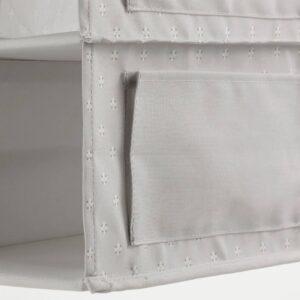 БЛЭДДРАРЕ Подвесной модуль,7отделений, серый/с рисунком 30x30x90 см - 604.744.06