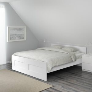 БРИМНЭС Каркас кровати, белый/Лурой 160x200 см - 194.193.90
