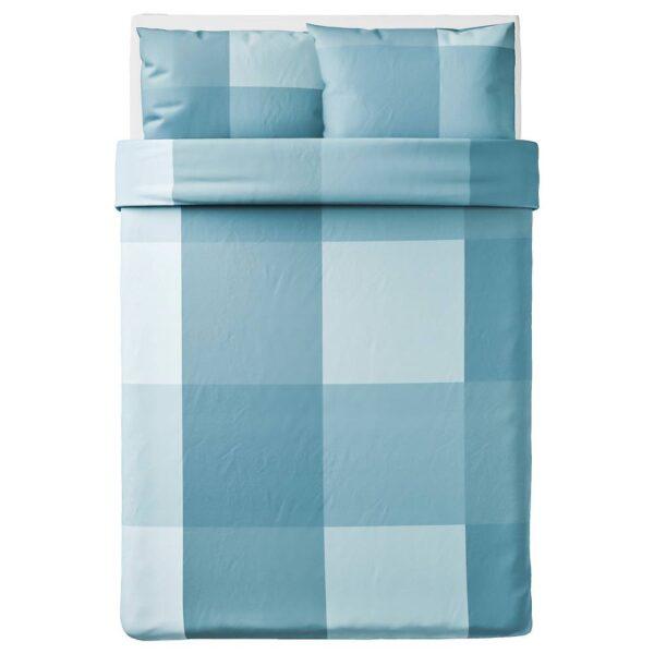 БРУНКРИСЛА Пододеяльник и 2 наволочки, голубой 200x200/50x70 см - 904.820.75