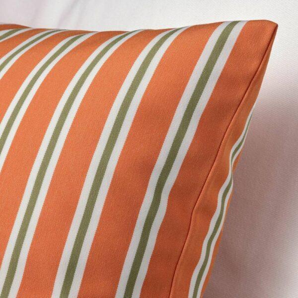 ФУНКЁН Чехол на подушку, д/дома/улицы, оранжевый полоска 50x50 см - 204.384.82