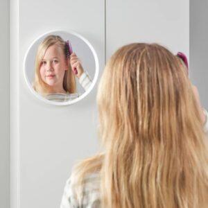 ХЭНГИГ Зеркало, белый/круглой формы 26 см - 204.461.56