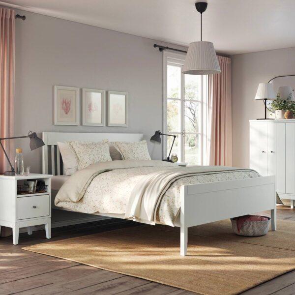 ИДАНЭС Каркас кровати, белый/Леирсунд 160x200 см - 394.065.08