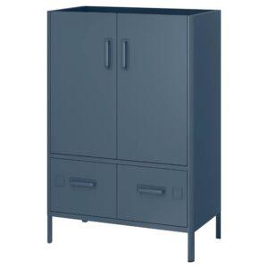 ИДОСЕН Шкаф с электронным замком, синий 80x119 см - 892.872.11